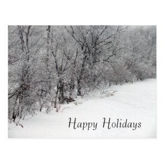 Cartão nevado do feriado do Natal das madeiras