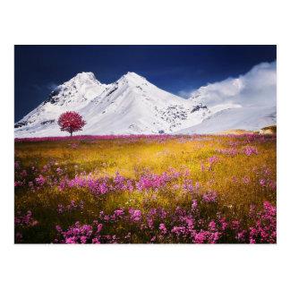 Cartão nevado dos cumes
