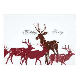 Cartão Neve animal do feriado
