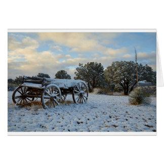 Cartão Neve da manhã na luz adiantada do alvorecer