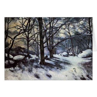 Cartão Neve de derretimento de Paul Cezanne-.