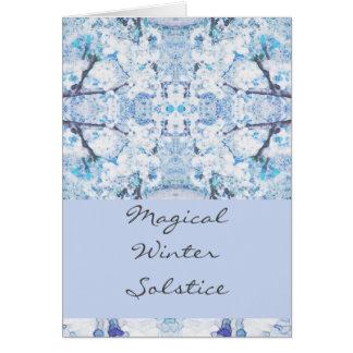 Cartão Neve feliz de Yule do solstício de inverno