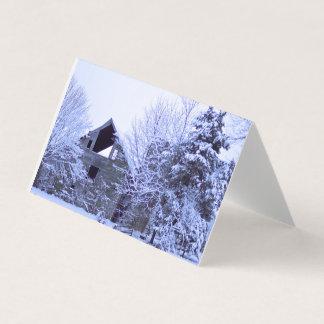 Cartão Neve na fazenda