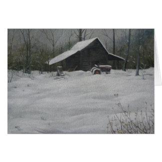Cartão Neve no fumeiro
