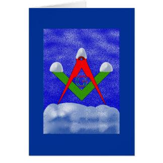 Cartão Neve no quadrado