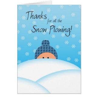 Cartão Neve que ara obrigados
