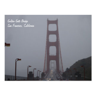 Cartão nevoento de golden gate bridge