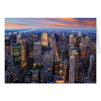 Cartão New York na noite