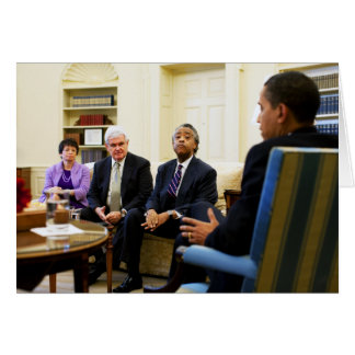 Cartão Newt Gingrich, Barack Obama, Jarrett & Sharpton
