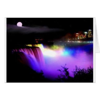 Cartão Niagara-Queda-sob-projector-em-noite