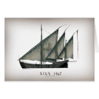Cartão Nina 1492 por Tony Fernandes