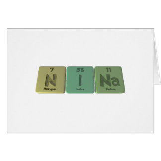 Cartão Nina como o sódio do iodo do nitrogênio