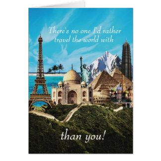 Cartão Ninguém que eu viagem da preferencialmente o mundo