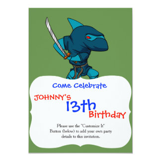 Cartão Ninja do tubarão