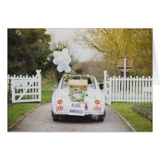 Cartão Nissan Figaro que Wedding o carro