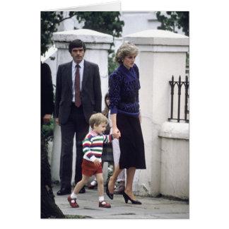 Cartão No.22 príncipe William & princesa Diana 1985