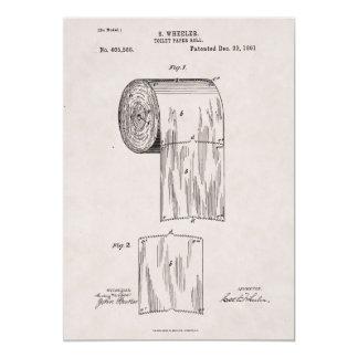 Cartão No. 465.588 da patente do papel higiénico por S.