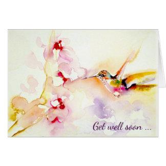 """Cartão """""""" No colibri cor-de-rosa obtenha bem"""