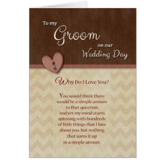 Cartão No dia do casamento para preparar porque faça eu