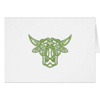 Cartão Nó do céltico de Bull do Taurus