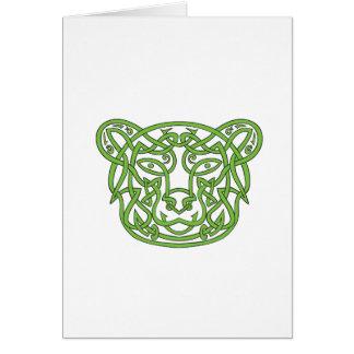 Cartão Nó do céltico do urso