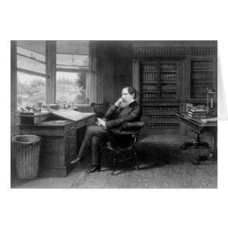 Cartão No estudo de Charles Dickens