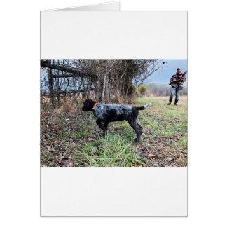 Cartão No filhote de cachorro do ponto