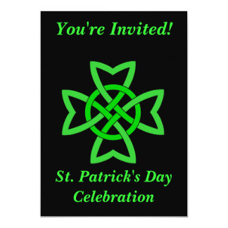 Cartão Nó irlandês do Celt da celebração do Dia de São