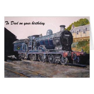 """Cartão """"No motor de vapor da estrada de ferro caledoniana"""