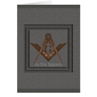 Cartão No quadrado