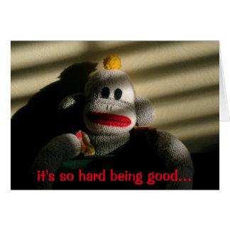 Cartão No vazio do macaco do problema