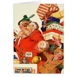 Cartão Noite antes do Natal