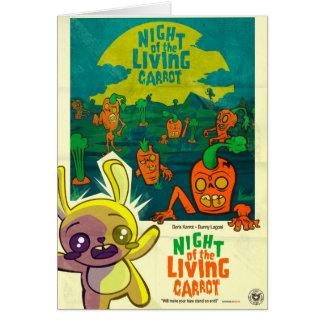 Cartão Noite da cenoura viva!