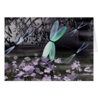 Cartão Noite das libélulas