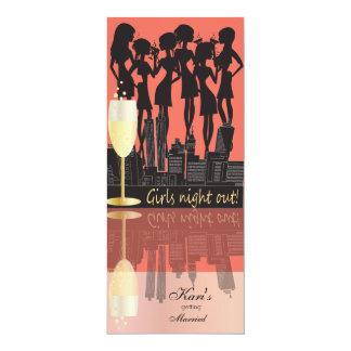 Cartão Noite das meninas para fora, partido na cidade -
