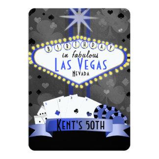 Cartão noite do casino do partido de aniversário de Las