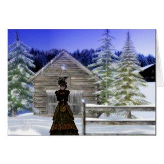 Cartão Noite do inverno