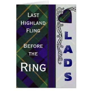 Cartão Noite do veado dos rapazes - Tartan do Scottish de