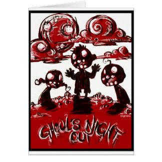 Cartão Noite dos Ghouls para fora