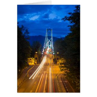Cartão Noite em Vancôver