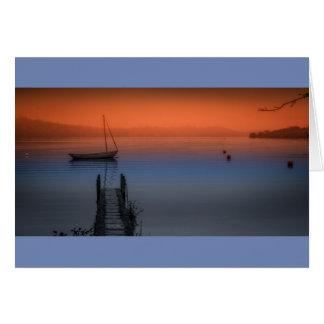 Cartão Noite enevoada no lago Windermere