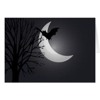 Cartão Noite enluarada o Dia das Bruxas feliz