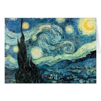 Cartão - noite estrelado