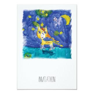 Cartão Noite estrelado Pegasus da aguarela com bastão