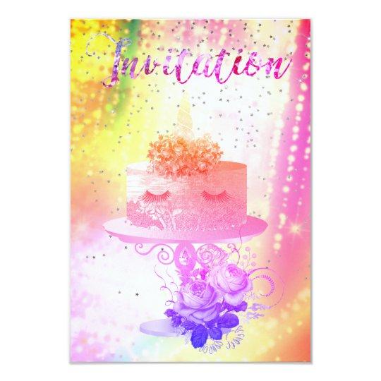 Cartão Noite estrelado vívida cor-de-rosa brilhante do