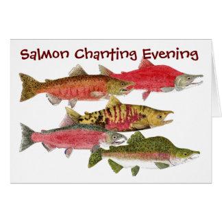 Cartão Noite Salmon Chanting