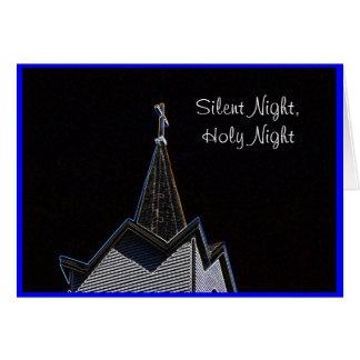 Cartão Noite silenciosa do Steeple da igreja
