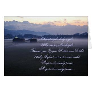 Cartão Noite silenciosa, noite santamente
