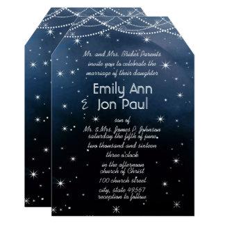 Cartão Noite sob as estrelas que Wedding