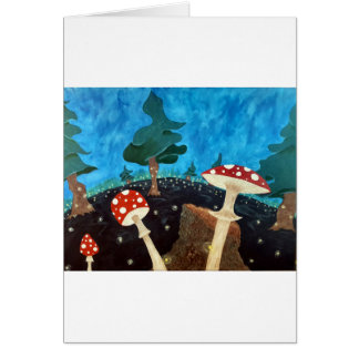 Cartão noite trippy nas madeiras